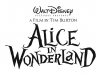 Alice in Wonderland logo Tim Burton