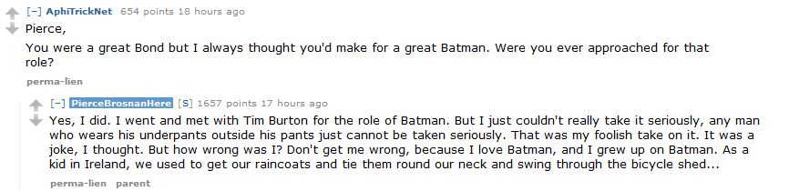 Pierce Brosnan Batman