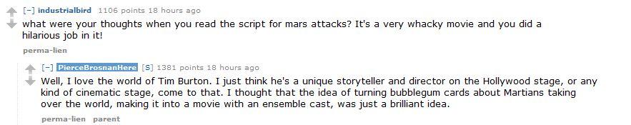 Pierce Brosnan Mars Attacks
