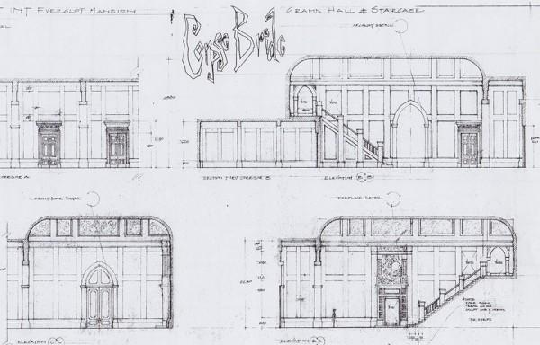 Plan technique de la maison des Everglot - Corpse Bride (2005)